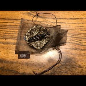 Colette Malouf; wire mesh rose (accessory)